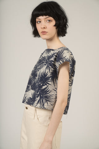 Printed palm trees top