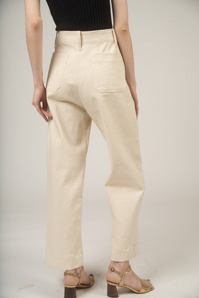 Seamed jean in Cream