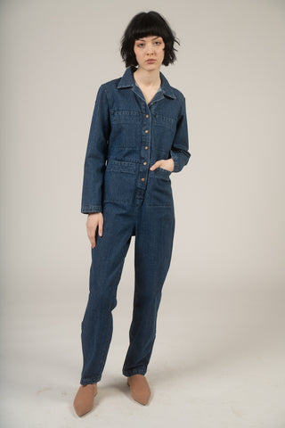 Tia coverall in medium denim