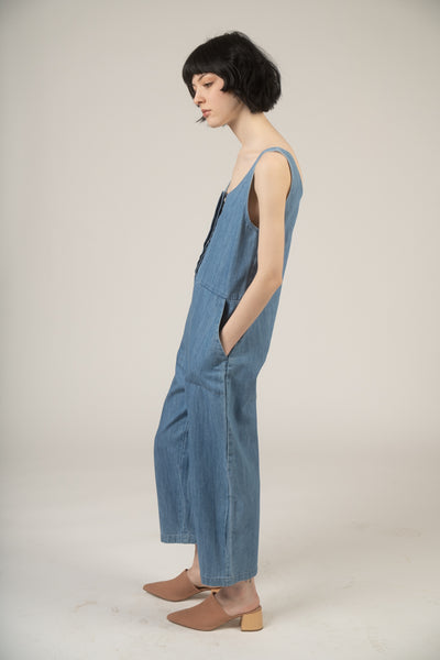 Lenny jumpsuit in faded denim