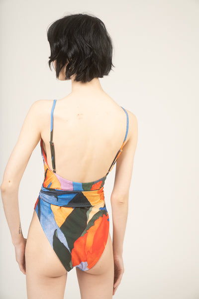 Gamela printed one-piece swimsuit