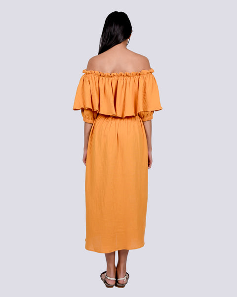 Otto dress in saffron