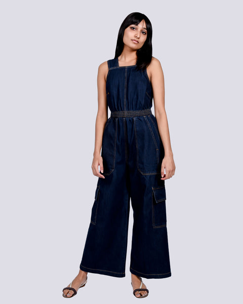 Emerson jumpsuit in indigo