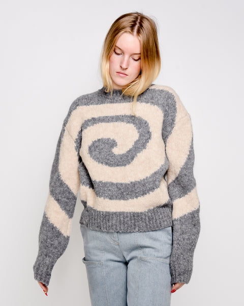 Twister spirale alpaca blend sweater