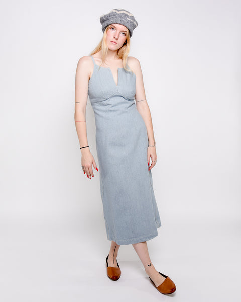 Jean dress in recycled denim