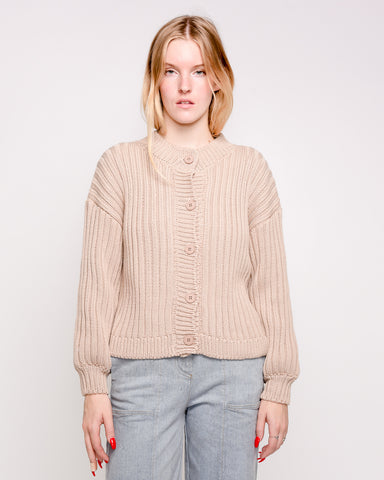 Litta knit cardigan in nude