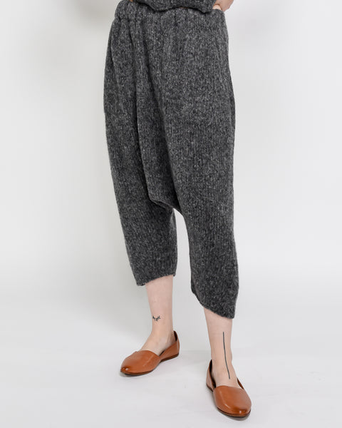 Kiko knit pants in charcoal