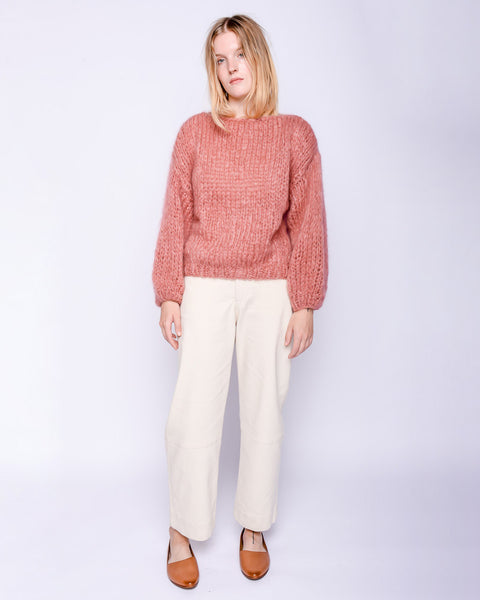 Mohair big Sweater in dusty rose