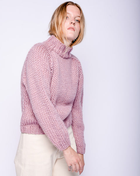 Merino wool Sweater in mauve