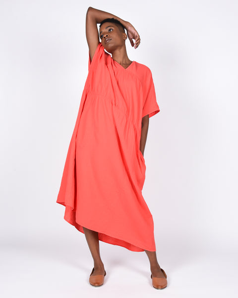 Lihue dress in scarlet red