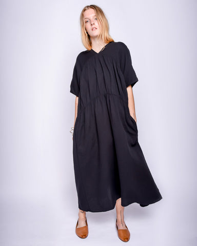 Lihue dress in black gauze