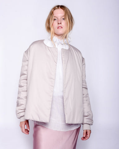 Arif padded jacket in light mauve