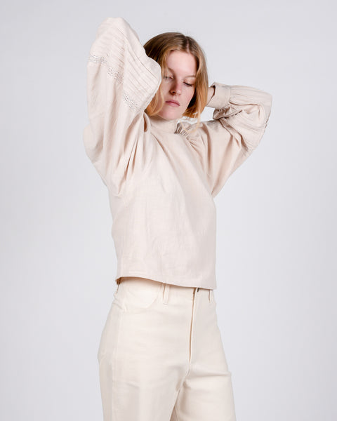 Carnation linen top in beige