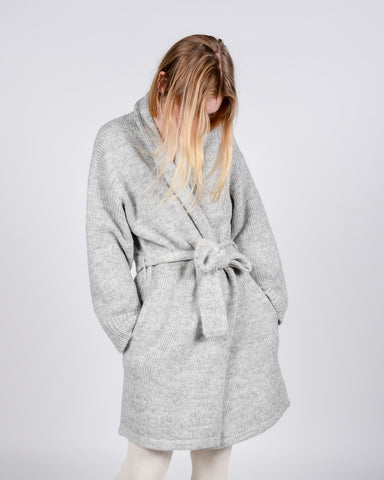 Robe cardigan in marble grey