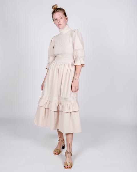 Clematis dress linen in beige