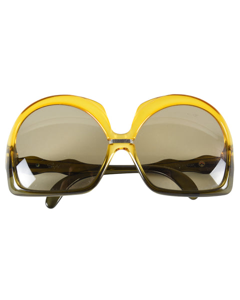 Ochre and grey vintage sunglasses