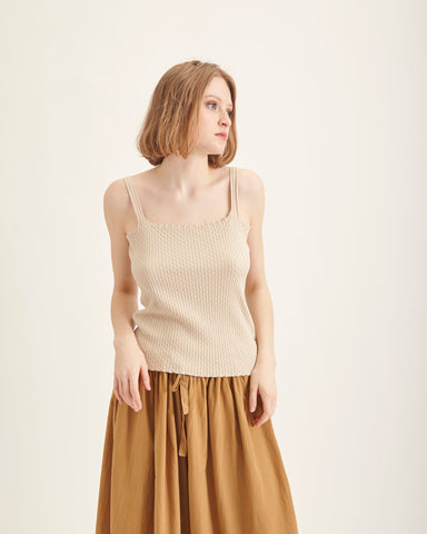 Wicker knit top