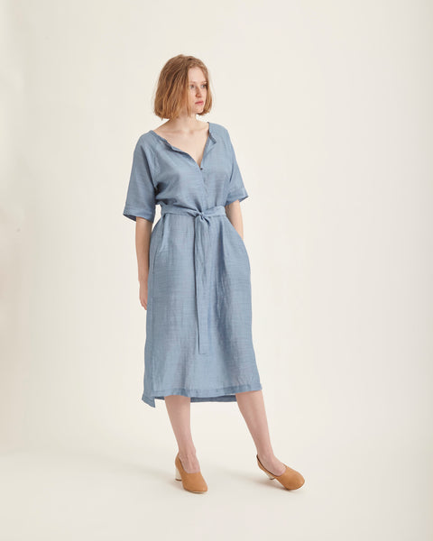 Gaia dress in azure