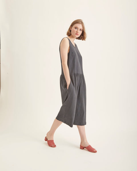 Samet Jumpsuit in coal