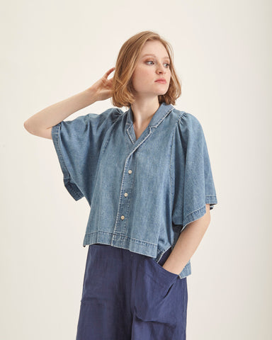 Sheldon top in denim