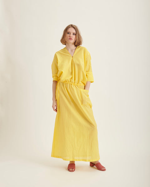 Roja maxi-dress in lemon