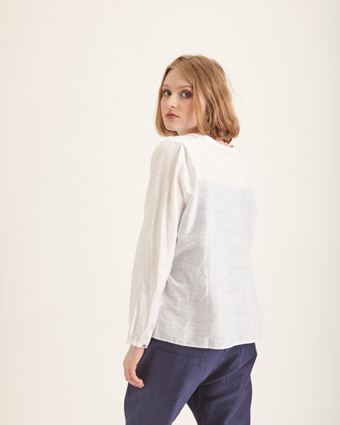 Gita shirt in white