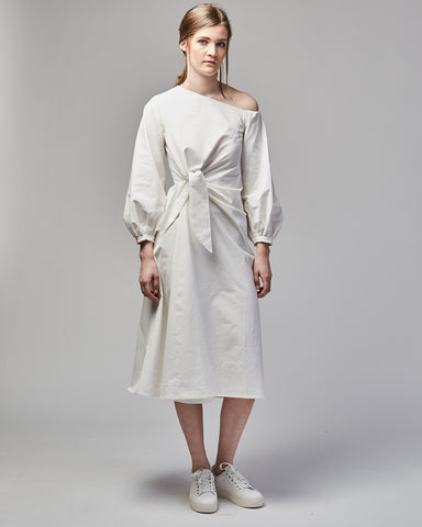 Smith cotton dress in white