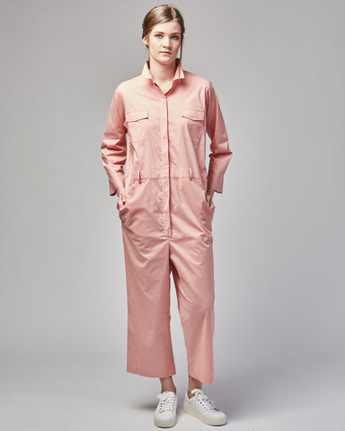 Jasper boiler suit in soft pink