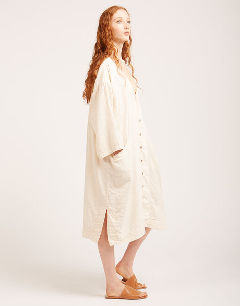 Gillian coat in kinari white