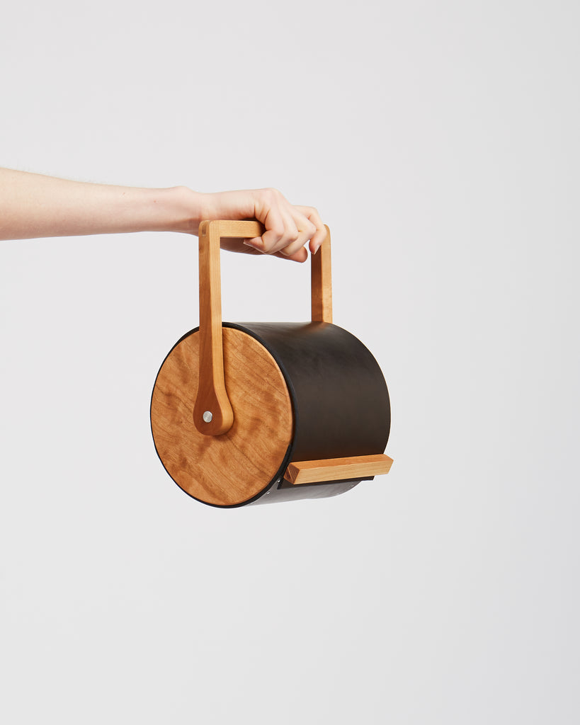Cylinder bag in black