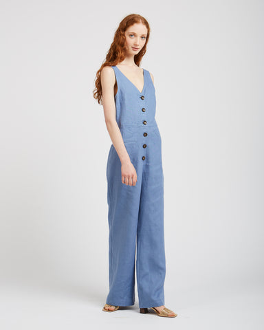 Alana Jumpsuit in soft blue