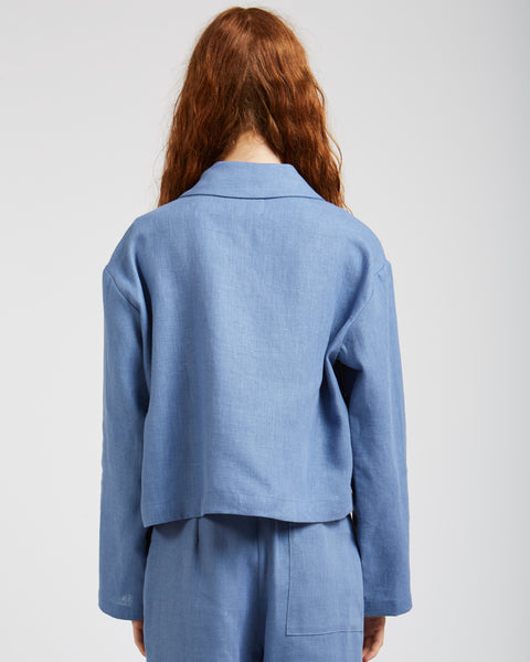Apollonia jacket in soft blue