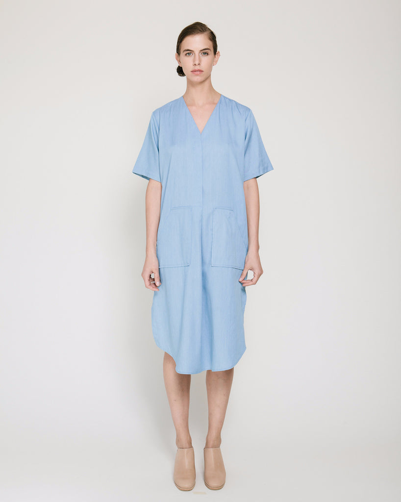 Tencil Denim Dress in Light Blue - Founders & Followers - Achro - 1