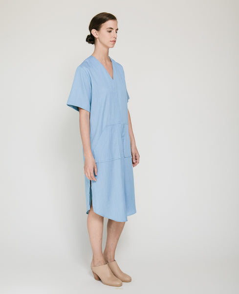 Tencil Denim Dress in Light Blue - Founders & Followers - Achro - 2