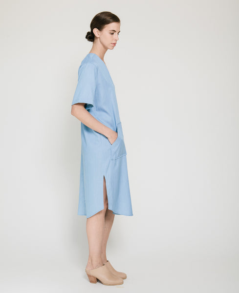 Tencil Denim Dress in Light Blue - Founders & Followers - Achro - 3