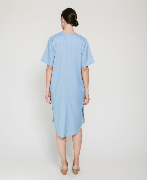 Tencil Denim Dress in Light Blue - Founders & Followers - Achro - 4