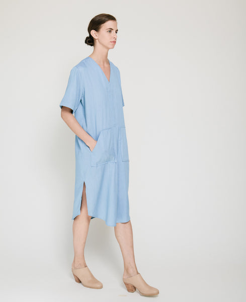 Tencil Denim Dress in Light Blue - Founders & Followers - Achro - 5