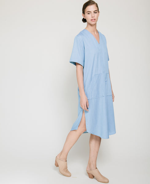 Tencil Denim Dress in Light Blue - Founders & Followers - Achro - 6