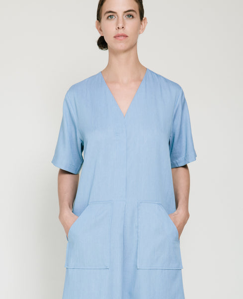 Tencil Denim Dress in Light Blue - Founders & Followers - Achro - 7