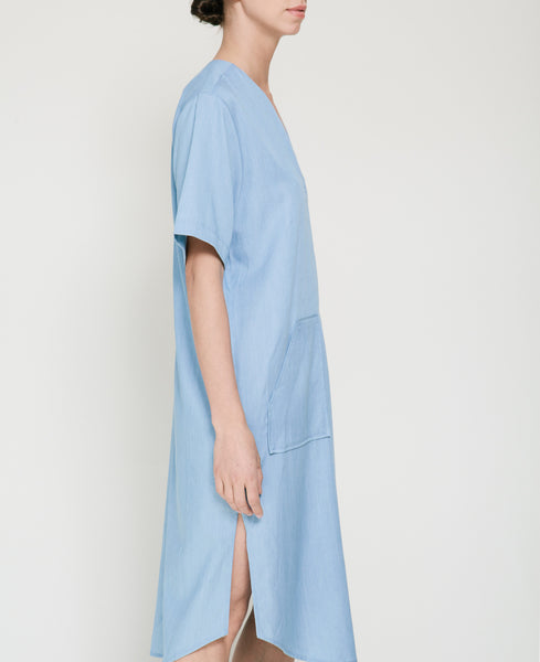 Tencil Denim Dress in Light Blue - Founders & Followers - Achro - 8