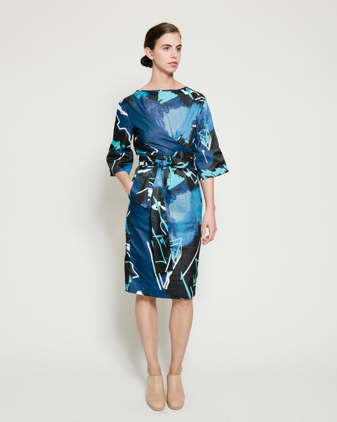 Harper Dress in Swiggle Print - Founders & Followers - Gary Bigeni - 1