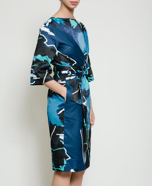 Harper Dress in Swiggle Print - Founders & Followers - Gary Bigeni - 7