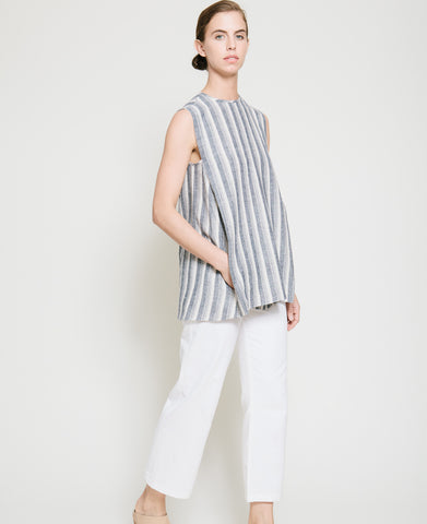Safil Fold Top in Grey Stripe - Founders & Followers - Gary Bigeni - 1