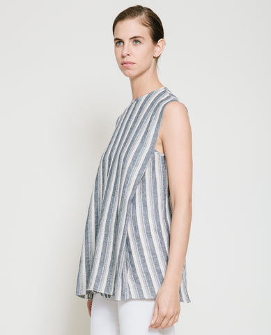 Safil Fold Top in Grey Stripe - Founders & Followers - Gary Bigeni - 2
