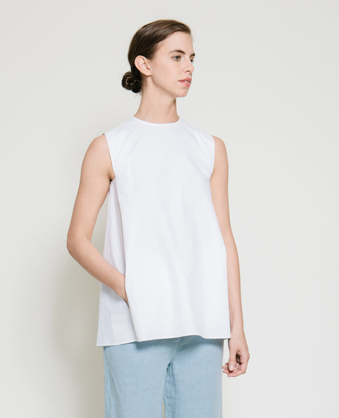Safil Fold Top in White - Founders & Followers - Gary Bigeni - 2