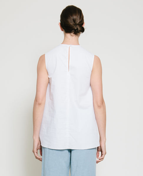 Safil Fold Top in White - Founders & Followers - Gary Bigeni - 4