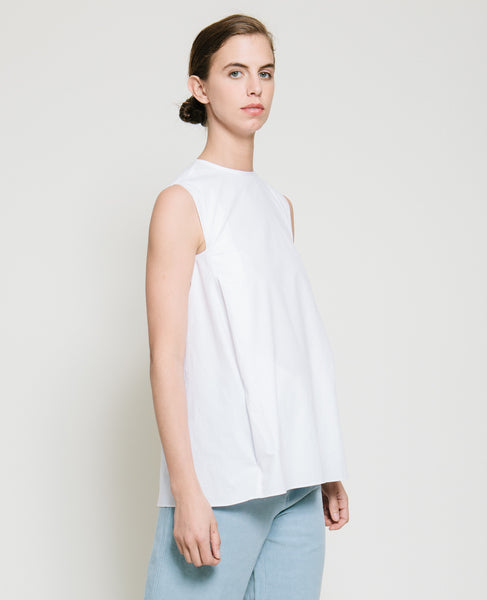 Safil Fold Top in White - Founders & Followers - Gary Bigeni - 5