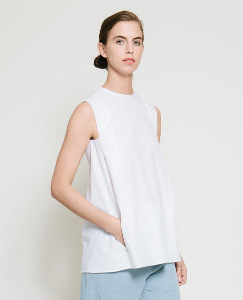 Safil Fold Top in White - Founders & Followers - Gary Bigeni - 6