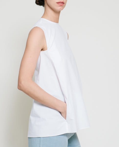 Safil Fold Top in White - Founders & Followers - Gary Bigeni - 7