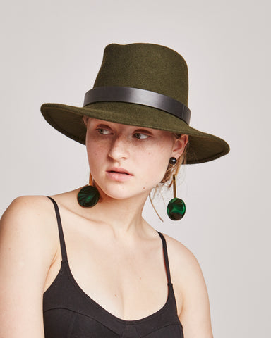 Jackson wool hat in loden green
